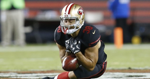 Jarryd Hayne's first touch in the NFL didn't go to plan at all