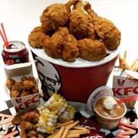 This delicious looking bucket of KFC is actually a birthday cake