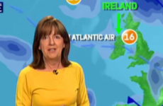 Met Eireann received complaints about this arrow pointing out Ireland on the weather forecast