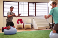 Who won when Conor Murray and Jamie Heaslip went head-to-head in a fitness challenge?