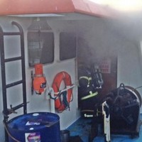 20 firefighters have been battling a fishing boat fire in Dublin