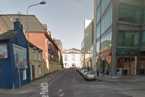 View of Lower Oliver Plunkett Street.