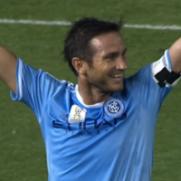 Frank Lampard has scored his first MLS goal but his team-mate tried to claim it