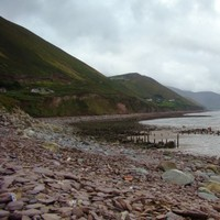 A Kerry coastal community is cut off following a cliff landslide