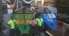 All-Ireland fever hits New York as Irish builders show colours by painting concrete skips
