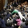 WATCH: Japanese politicians get into massive brawl... over pacifism