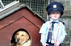 The Gardaí took on a very tiny and very adorable recruit yesterday