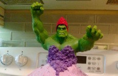 This mam is going viral for making her twin girls an awesome Princess Hulk birthday cake