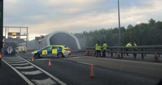 The Port Tunnel has reopened after a vehicle went on fire this morning