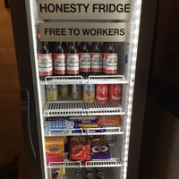 An office just installed this insane fridge to get workers to stay late