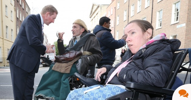 'People with disabilities and the homeless aren't being taken care of because of your vote'