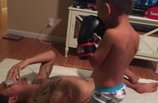 Max Holloway's unbeaten run is finally ended... by his 3-year-old son