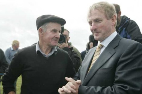 Taoiseach Enda Kenny is ready to get stuck in at the ploughing championships in Athy today.