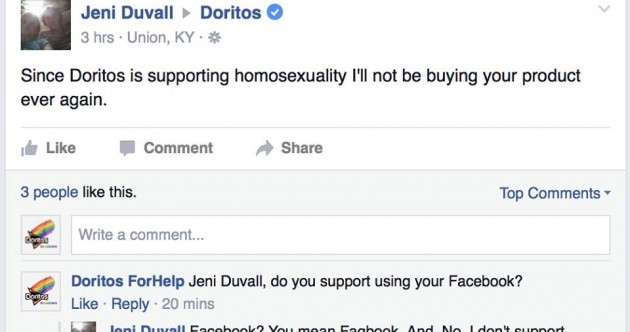 This guy excellently trolled people complaining about Doritos' new LGBT crisps