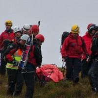 Dramatic photos as injured hillwalker rescued from Galway mountainside