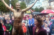 This is the statue of Sonia O'Sullivan that was unveiled in Cobh today