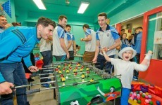Dublin's All-Ireland winners visit Crumlin Children's Hospital with Sam Maguire