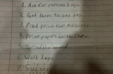 This 9-year-old girl's business plan was found by her Dad and it's adorable