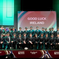 In pics: Ireland belatedly receive World Cup caps at welcome ceremony