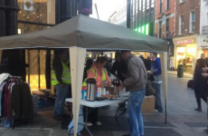 Gardaí shut down stall handing out food and clothes to homeless in Dublin