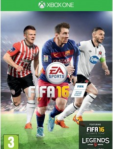 Two unlikely players feature alongside Leo Messi on the Irish cover of Fifa 16