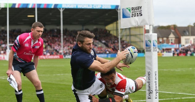 This brilliant try-saving tackle was as good as it got for Japan today
