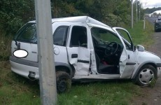 The driver of this crumpled hatchback escaped without injury (but they weren't wearing their seatbelt)
