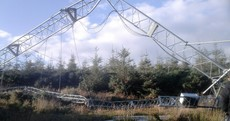 80-metre wind mast knocked over