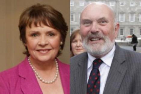 Dana Rosemary Scallon and David Norris (File photos)