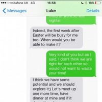 This woman went on a date with the worst man ever and has the texts to prove it