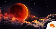 If you stay up late tonight you'll see the moon turn a deep blood red