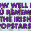 How Well Do You Remember The Irish Popstars?
