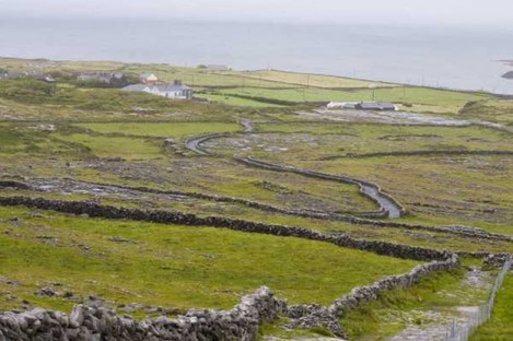 Inis Mór, the largest of the three Aran Islands.