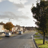 Two men taken to hospital after car crashes into bus stop