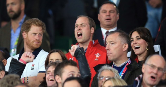 Prince William clearly won the battle of the bros at Twickenham tonight