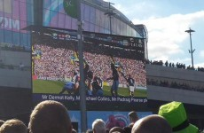These Irish fans pulled off a prank on the big screen before the rugby match in London