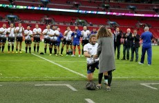 Romanian scrum-half gets down on one knee on Wembley pitch to pop the question to his girlfriend