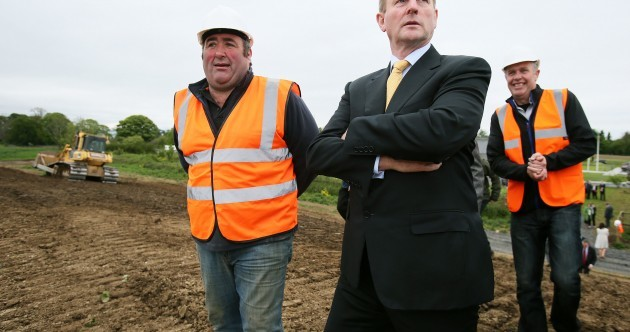 Is Enda about to don a hard hat and build his way to an election win?