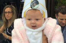The Pope broke his heart laughing at this adorable little 'baby pope'
