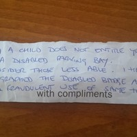 Mother of disabled boy returns to car to find note threatening to report her to gardaí