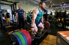That's just showing off! Cian Healy deadlifted 220kg+ for the cameras in training today