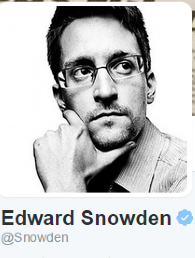 Edward Snowden has joined Twitter - guess what's the one account he follows?