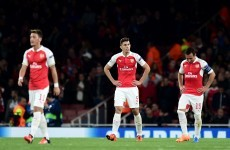 Boos at the Emirates as goalkeeping howler leaves Arsenal in Champions League trouble