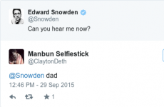 People are already tweeting 'f**k me daddy' at Edward Snowden