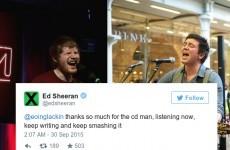 Here's how one Irish singer got Ed Sheeran to tweet him some serious praise