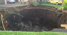 66-foot sinkhole appears in housing estate in England