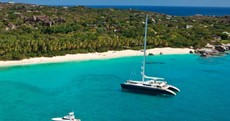 The world's largest catamaran is so big it has its own trampoline and Jacuzzi. Here's what it looks like