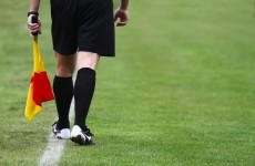 Watch: Football referee takes one in the crown jewels