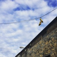 Here's the story with those sparkly shoes on telephone wires around Dublin