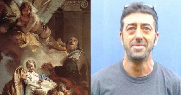 Police are trying to solve the mystery of an Italian art thief found dead in a London canal